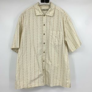 Batik Bay mens Shirt aloha camp button front large